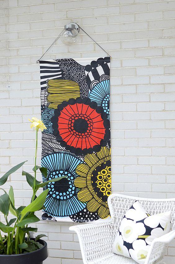 paneles tela para decorar