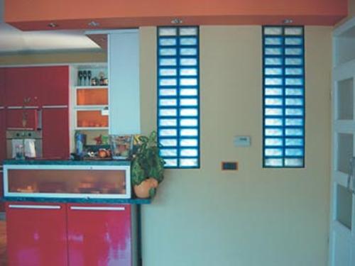 Aplicaciones del bloque de cristal segunda parte - Cocinas con bloques de vidrio ...