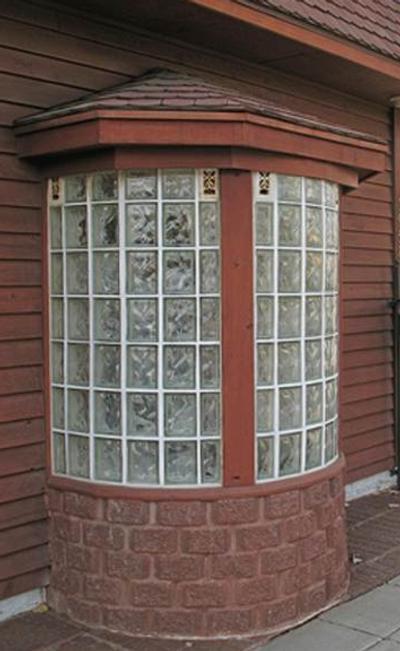 ladrillos de cristal en ventanas