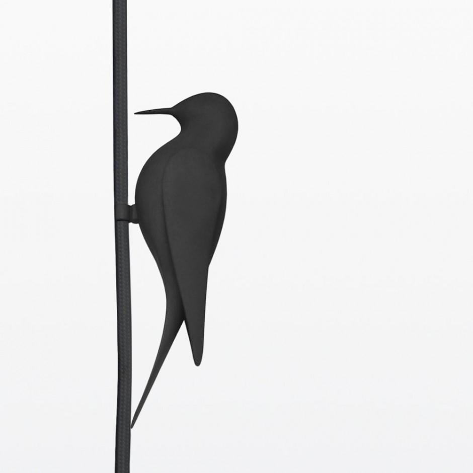 silueta de pájaro 3d
