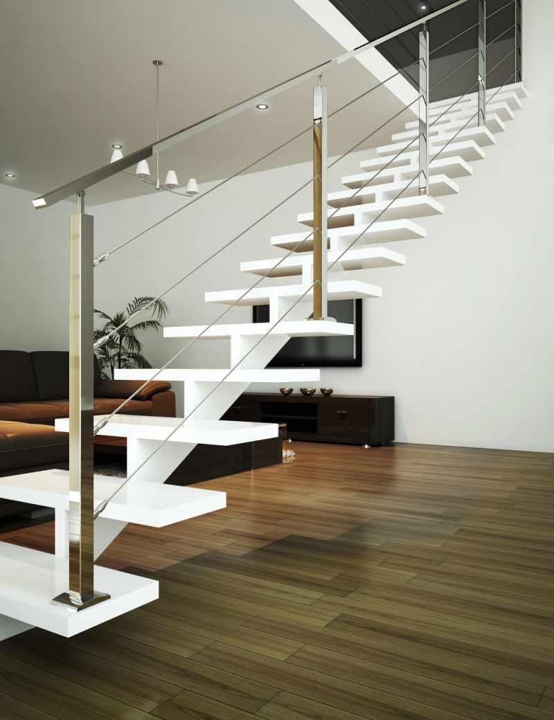 Sistema easycable para escaleras que resiste modas for Diseno de escaleras interiores minimalistas