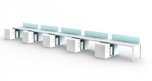 Sistema de mesas y mobiliario para oficinas y despachos for Mobiliario modular para oficina