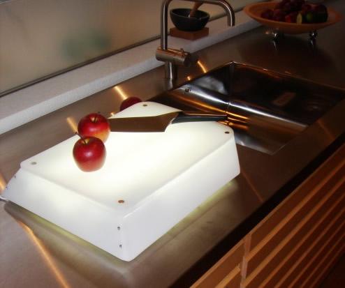 tabla de picar iluminada