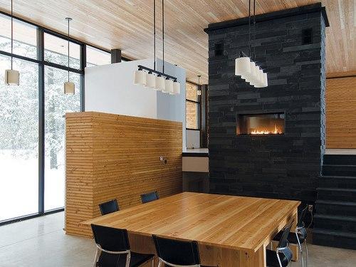 revestimiento de paneles de madera