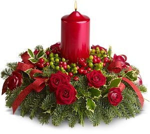 Tips decoraci n navidad centros de mesa con flores - Decoracion de navidad original ...