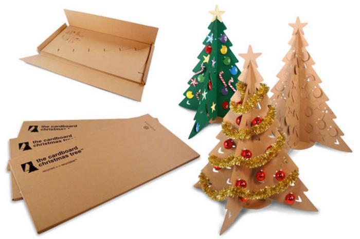 Un rbol de navidad de cart n - Arbol de navidad en casa ...