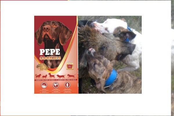 Palete de 60 sacos ração Pepe Cookies 20kg para cães de matilha caça envio grátis 3