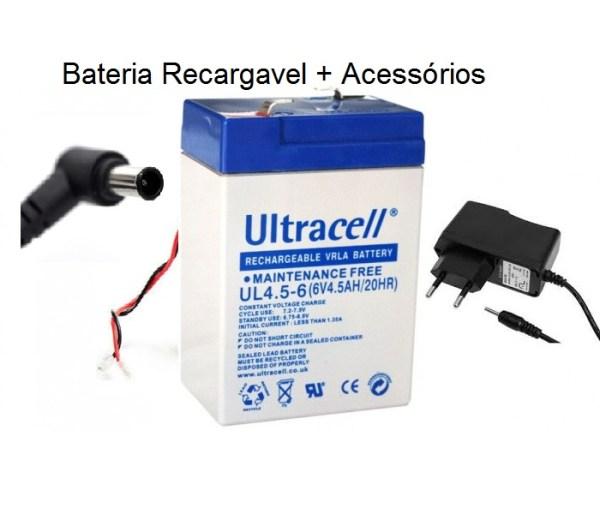 Baterias recargaveis 6V 1