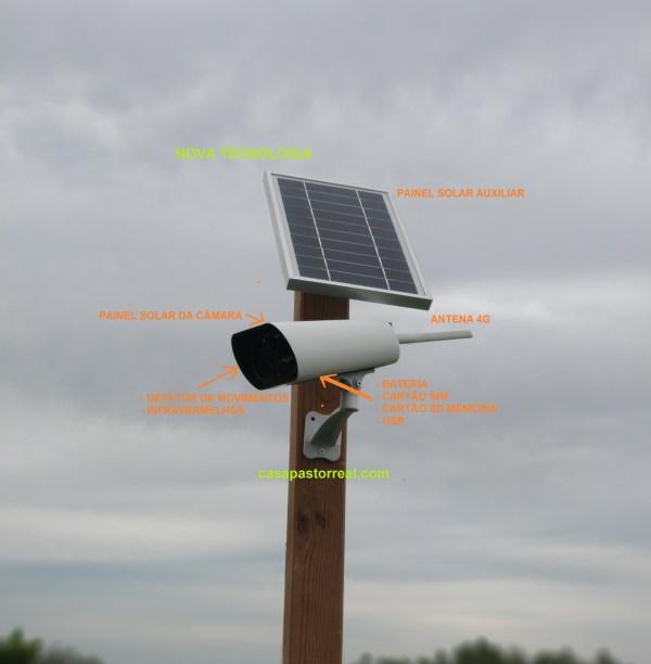 Câmara de Vigilância com Painel Solar