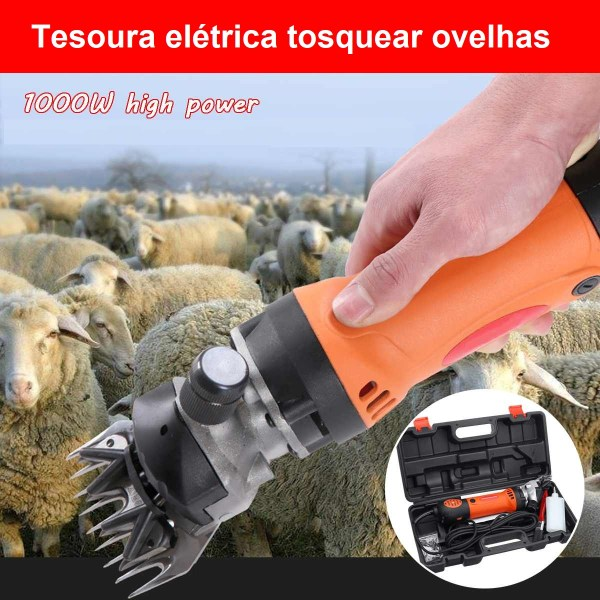 Tesoura elétrica Tosquiadeira de Ovelhas e Cabras