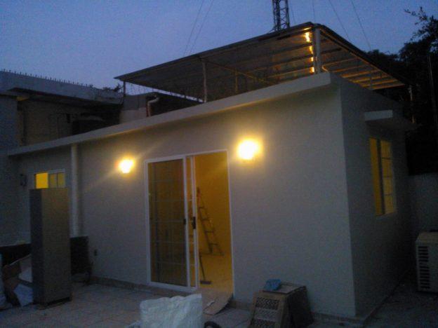 ampliación en azotea casa prefabricada