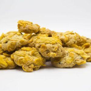 biscotti con cornflakes e gocce di cioccolato fondente