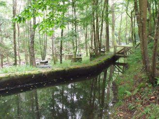 Canal principal del río Suarón en el Mazo de Meredo