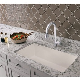 kitchen sink white countertop casa reno direct blanco single diamond u super collection granite composite in silgranit 33 1