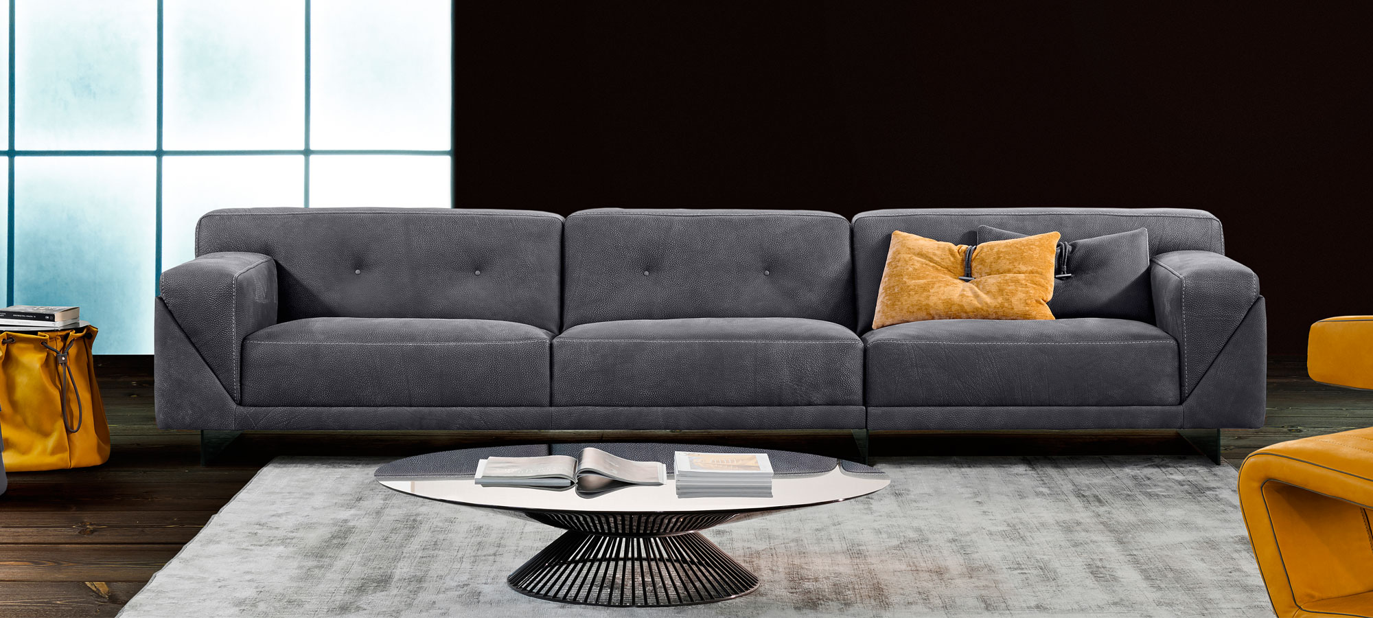 gamma sofas sectional sofa with reversible chaise ottoman grant casarredo