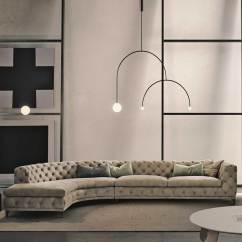 Leather Sectional Sofa Tufted Klaussner Bentley Reviews Aston Curved - Casarredo