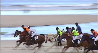Carrera de caballos en Ribadesella
