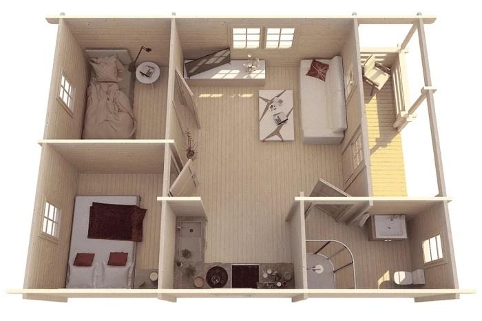 Casa de madera economica ECO02 3 - Casa de madera económica modelo ECO02