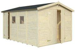 cobertizo doble de madera Dan 10 de Casas Carbonell de paneles de madera