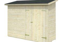 armario trastero Leif 2.2 de Casas Carbonell de paneles de madera