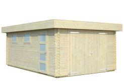 garaje moderno Rasmus 19 de Casas Carbonell con puerta cochera de madera