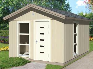 permiso para casa de madera de jardín