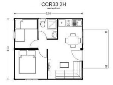 Plano de casas baratas precios CCR33 de Casas Carbonell