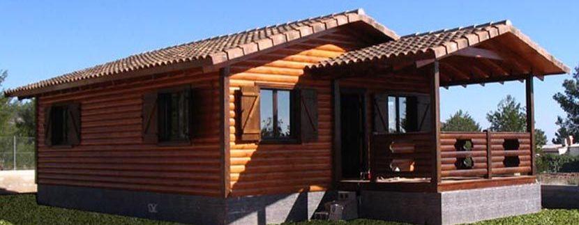 Casas de madera en Madrid, modelo Lieta para fines de semana y vacaciones.