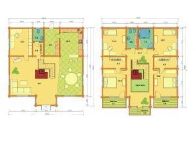 Plano de casas prefabricadas en kit Catherine