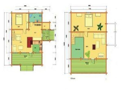 Plano de casas en kit de madera Elisa