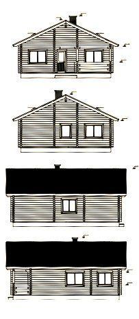Alzados de kit de casa de madera Regina