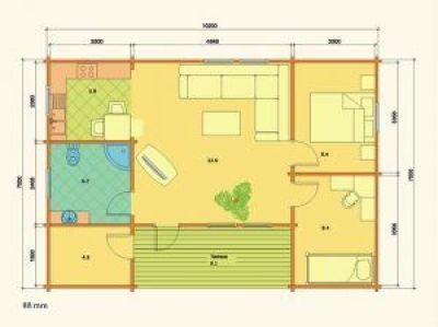Plano de kit de casas de madera Ursula