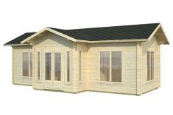 cabaña de vacaciones Anna 26.7 de Casas Carbonell en madera maciza