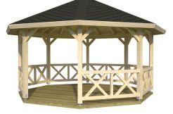 Pabellón en madera Betty 18 de Casas Carbonell de madera laminada