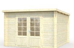 caseta cabaña Ella 8.7 de Casas Carbonell en madera tratada
