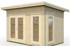 casa de jardín moderna Etta 6.7 de Casas Carbonell en madera tratada