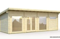 casa de madera para jardín Heidi 22.8 de Casas Carbonell vivienda anexo