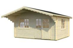 caseta de jardín Helena 15.1 de Casas Carbonell de madera maciza de 70 mm