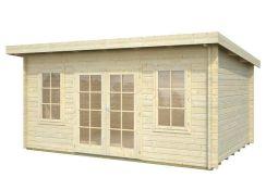 caseta de jardín Lisa 14.2 de Casas Carbonell en madera tratada