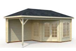 casetas de jardín en madera Melanie 6.8+8.3 Casas Carbonell de madera para jardin
