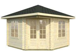 caseta de madera para jardín Melinie 9.6 de Casas Carbonell de madera tratada