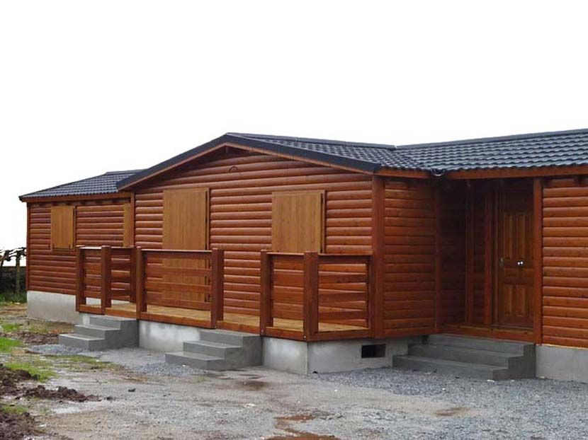 Casa prefabricada de madera modelo melocotonero casas carbonell Casa de madera prefabricada