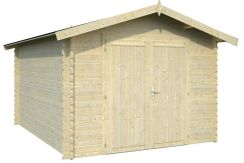 garaje trastero Roger 9.6 de Casas Carbonell de madera tratada