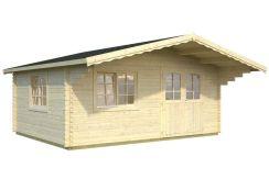caseta madera de jardín Sally 19.1 de Casas Carbonell de madera tratada