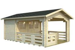 caseta de jardín de madera Sylvi 6.1 de Casas Carbonell en madera maciza