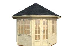 casita de jardín elegante Veronica 6.7 de Casas Carbonell en madera tratada
