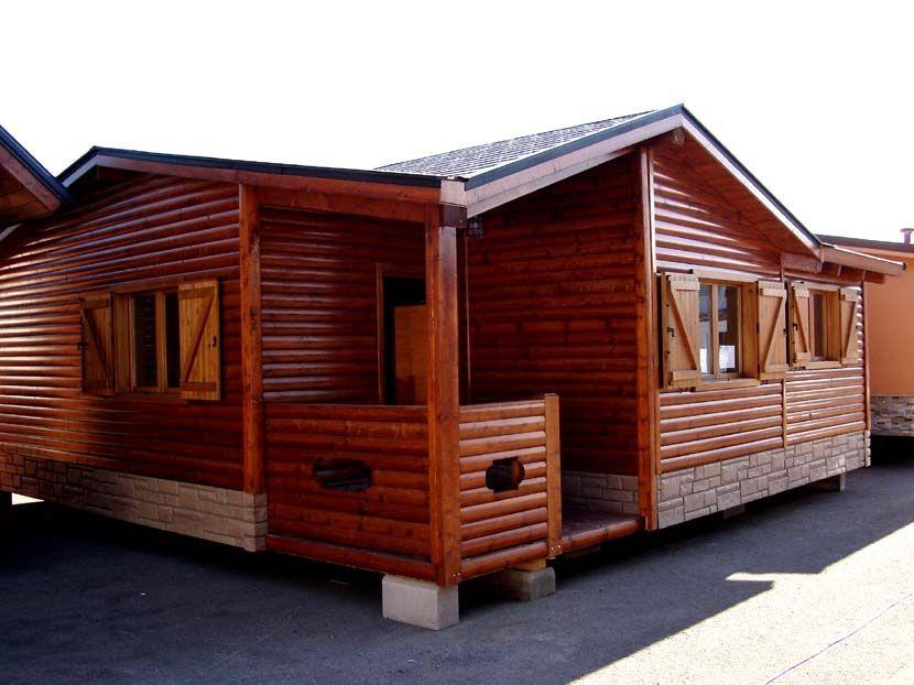 Casa prefabricada de madera modelo calatis casas carbonell - Casa de madera prefabricada ...