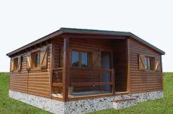 casa de madera prefabricada Manzano de Casas Carbonell modular