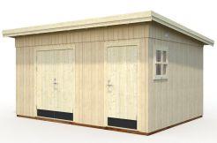 cobertizo de jardín económico Kalle 13.7 de Casas Carbonell en panel de madera