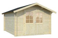 cabaña de madera Lotta 10 de Casas Carbonell en madera tratada